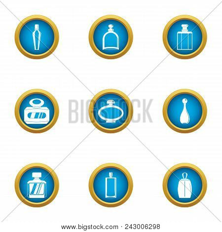 Delicious Smell Icons Set. Flat Set Of 9 Delicious Smell Vector Icons For Web Isolated On White Back