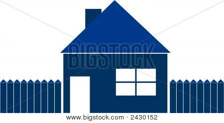 Blue House Illustration
