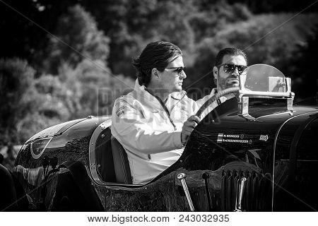 Pesaro Colle San Bartolo , Italy - May 17 - 2018 : Bentley Mk Vi Special1948 Old Racing Car In Rall