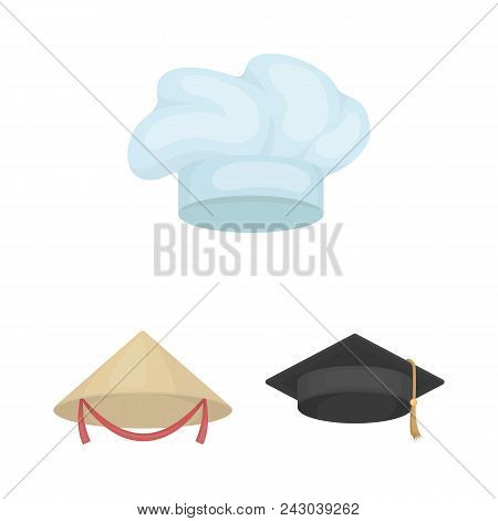 Different Kinds Of Hats Cartoon Icons In Set Collection For Design.headdress Vector Symbol Stock  Il