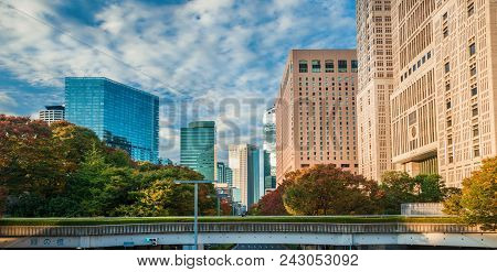 Tokyo, Japan - November 12: View Of Shinjuku Skyscrapers And Tokyo Metropolitan Government Building