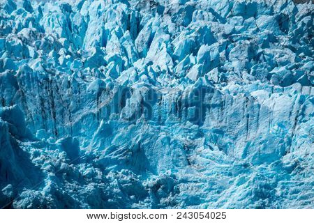 Blue glacier texture. Part of the Hanging Glacier in Quelat National Park, Patagonia, Chile
