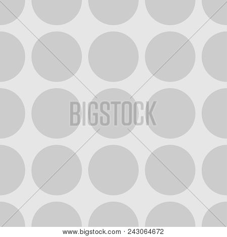 Tile Polka Dots Grey Vector Pattern For Decoration Wallpaper Background