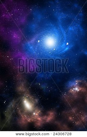 Blue And Brown Space Galaxy