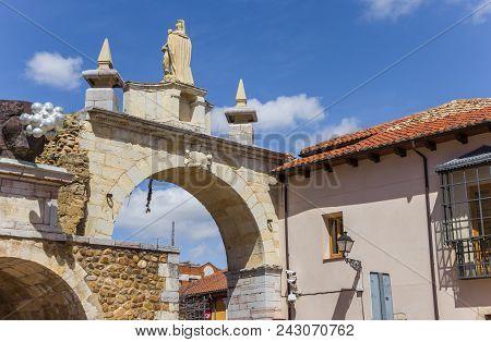 City Gate Arco De Carcel In Leon, Spain