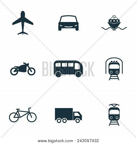 Set Vector City Transport Icons Collection In Flat Design. City Transport, Vihecles, Auto For Web De