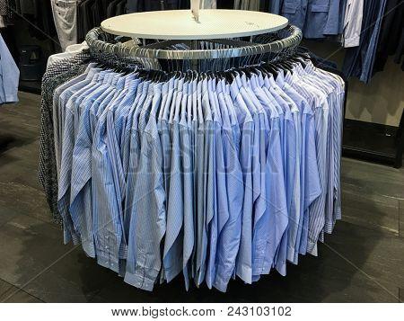 Shop of men's shirts ,suits. Business clothes,