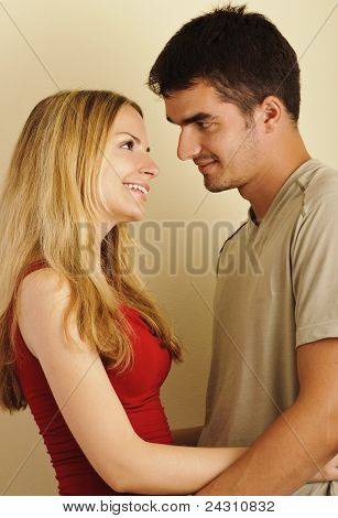 Young attractive couple in love