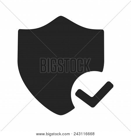 Safe Shield Protection Icon Simple Vector Sign And Modern Symbol. Safe Shield Protection Vector Icon