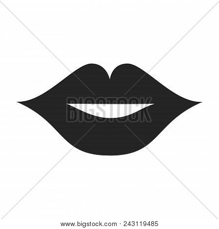 Lips Icon Simple Vector Sign And Modern Symbol. Lips Vector Icon Illustration, Editable Stroke Eleme