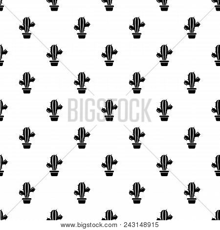 Domestic Cactus Icon. Simple Illustration Of Domestic Cactus Vector Icon For Web