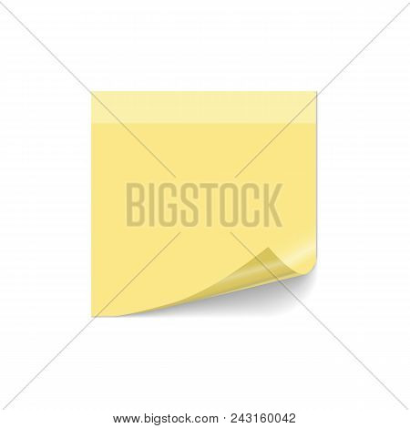 Note Post Vector. Curled Paper Post Note. Abstract Illustration Eps10. Graphic Background