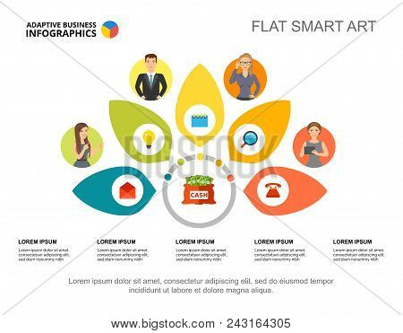 Management Slide Template. Business Data. Graph, Chart, Design. Creative Concept For Infographic, Re