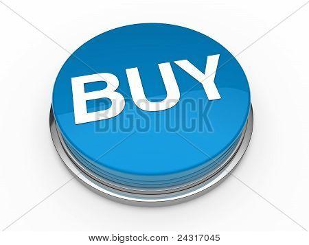 3D Button Buy Blue