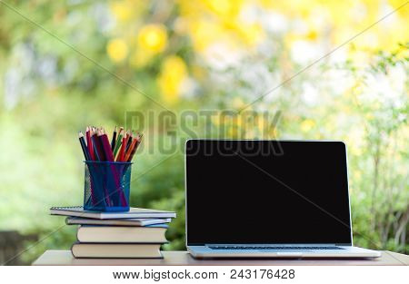 Notebooks And Notebooks Working Devices Notebook And Blackboard Book, Media, Teaching Pencils, Learn