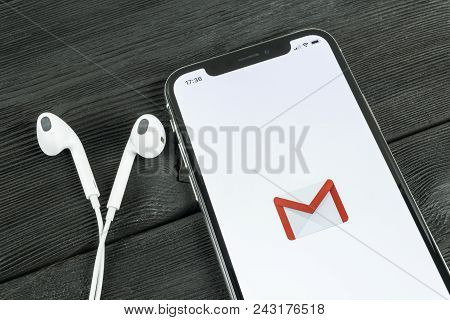 Sankt-petersburg, Russia, May 30, 2018: Google Gmail Application Icon On Apple Iphone X Smartphone S