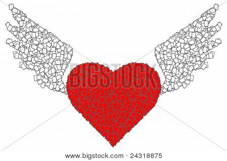 Red Heart And Wing