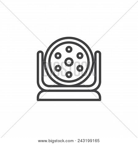 Spotlight Outline Icon. Linear Style Sign For Mobile Concept And Web Design. Strobe Lights Simple Li