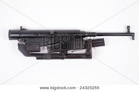 Folding airborne machine gun