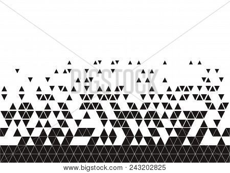 Abstract Geometric Techno Triangle Horizontally Seamless Pattern. Eps10 Vector