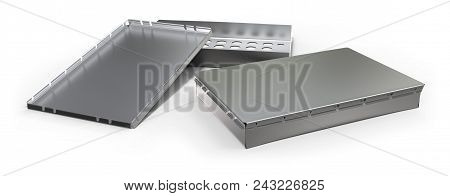 RF shielding enclosure isolated on white. 3d rendering poster