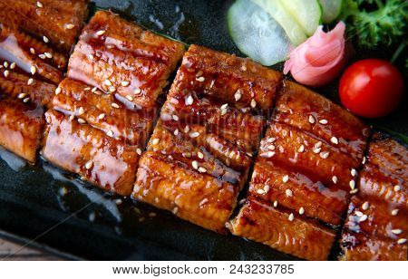 Cut Grilled Japanese Eel.