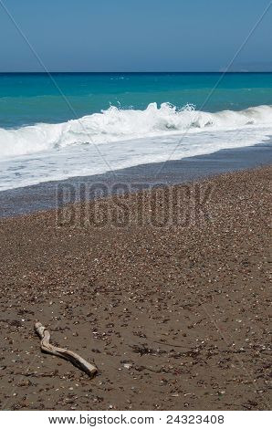 Windy Aegean coast