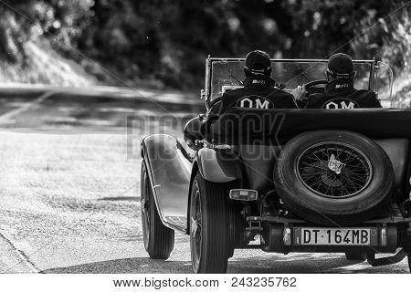 Pesaro Colle San Bartolo , Italy - May 17 - 2018 : O.m. 665 S Tt Superba 20001929 Old Racing Car In