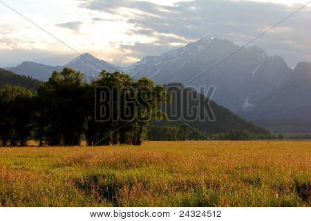 Rural area with mountains