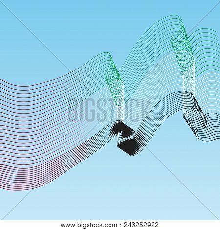 Line Flag. Abstract Background. National Day, United Arab Emirates. Eps1. Vector Illustration. Uae F
