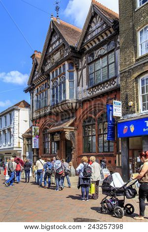 Canterbury, Great Britain - May 15, 2014: This Is A Medieval Building Of The Canterbury Municipal  M