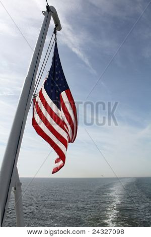 Ferry Flag In The Morning