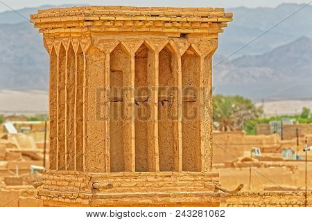 Yazd, Iran - May 5, 2015: Windcatcher Towers Is A Traditional Persian Architectural Element To Creat