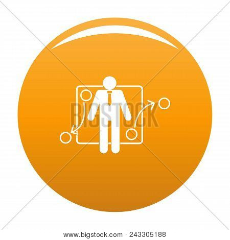 One Businessman Icon. Simple Illustration Of One Businessman Vector Icon For Any Design Orange