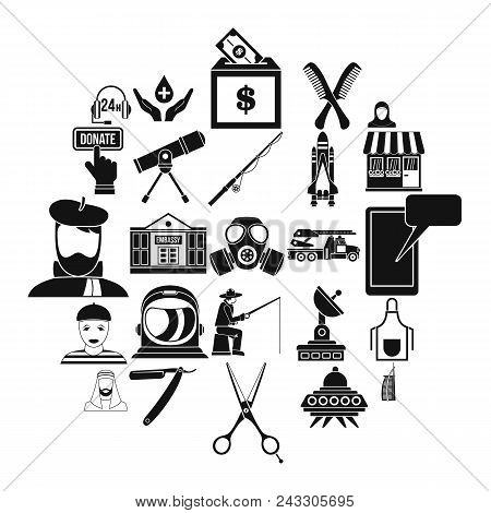 Human Resources Department Icons Set. Simple Set Of 25 Human Resources Department Vector Icons For W