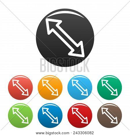 Cursor Increase Element Icon. Simple Illustration Of Cursor Increase Element Vector Icons Set Color