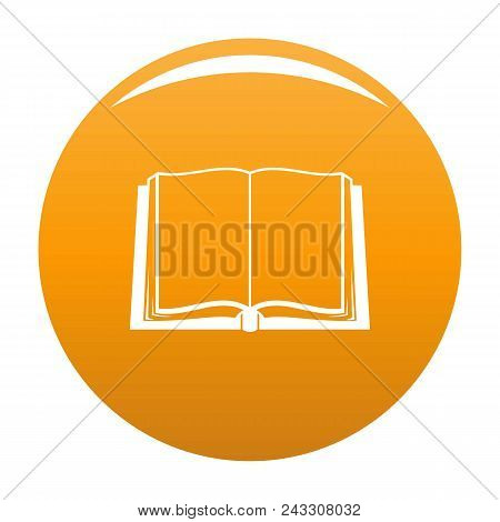 Book Deployed Icon. Simple Illustration Of Book Deployed Vector Icon For Any Design Orange