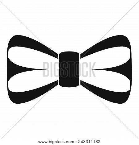Elegant Bow Tie Icon. Simple Illustration Of Elegant Bow Tie Vector Icon For Web Design Isolated On