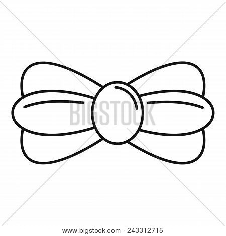 Fashion Bow Tie Icon. Outline Fashion Bow Tie Vector Icon For Web Design Isolated On White Backgroun