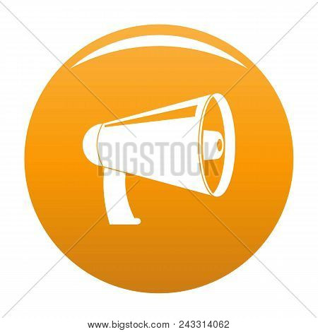 Old Megaphone Icon. Simple Illustration Of Old Megaphone Vector Icon For Any Design Orange