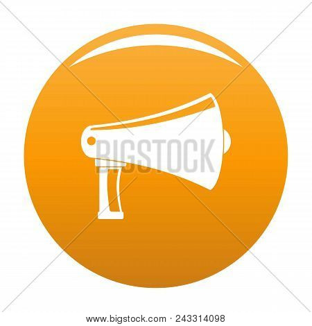 Vintage Megaphone Icon. Simple Illustration Of Vintage Megaphone Vector Icon For Any Design Orange
