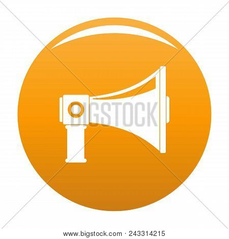 Single Megaphone Icon. Simple Illustration Of Single Megaphone Vector Icon For Any Design Orange