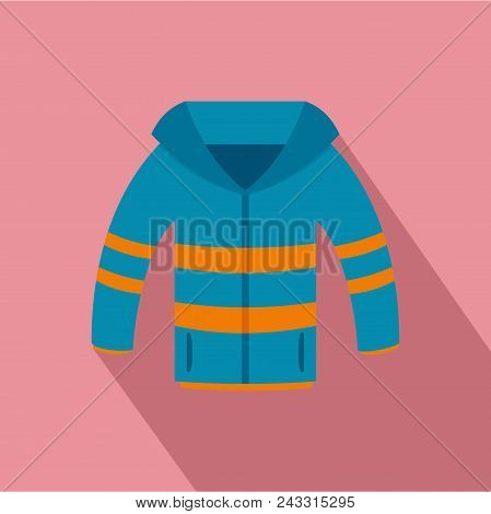 Winter Jacket Icon. Flat Illustration Of Winter Jacket Vector Icon For Web Design