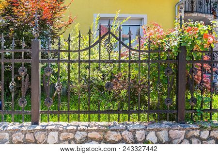 Wrought Iron Fence, Black Metal Iron Fence