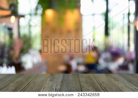 Empty Wooden Table And Window Room Interior Decoration Background, Product Montage Display,can Be Us