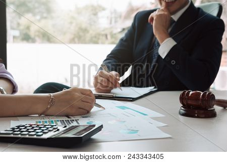 Business Man Supervising And Secretary To Execute Business Plan And Consultant Analyzing Company Ann