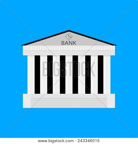 Bank Buildiing Isolated. Architecture Bank, Financial Institution, Architectural Classical Exterior.