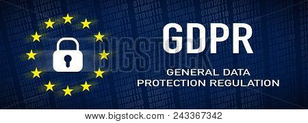 General Data Protection Regulation, Gdpr, Wide Banner