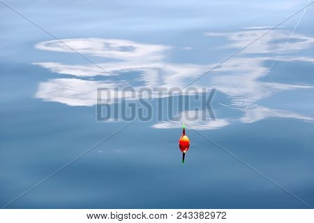 Fishing Float On The Surface Of The Water, Angling Tackle
