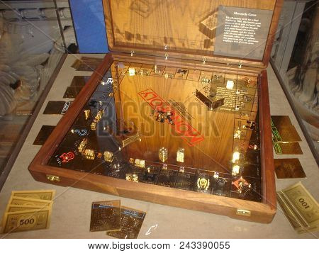 Solid Gold Monopoly Game Board And Pieces On Display The Smithsonian National Museum Of American His